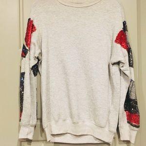 Zara Sweatshirt with sequin detail on the sleeves